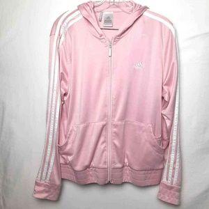 Adidas Clima365 Track Jacket Pink Striped L elasti